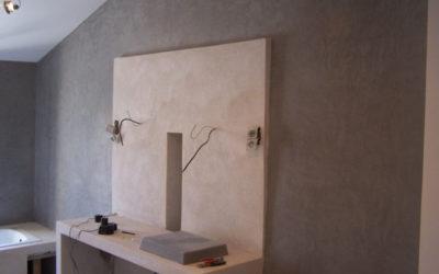 Salle de bain Marmorino anthracite