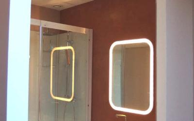 Salle de bain en Béton ciré couleur Tiramisu