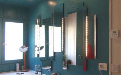 Salle de bain en Béton ciré Turquoise