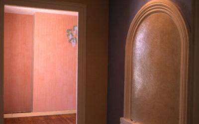 Chambre peinture chaux avec effet vertical
