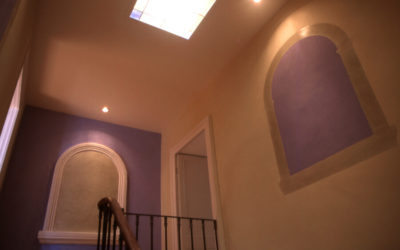 Hall Peinture chaux bleu/beige