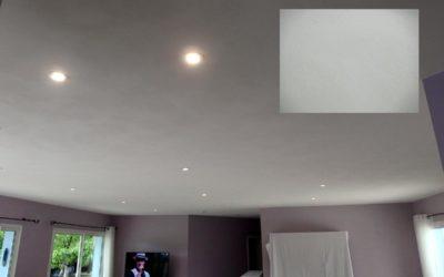 Plafond Sablé Blanc