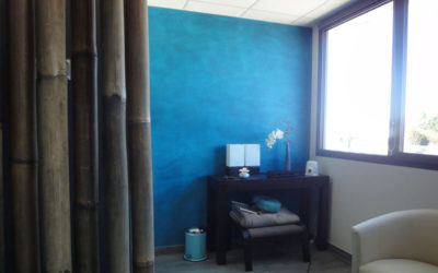 Salle de massage Peinture sable et chaux